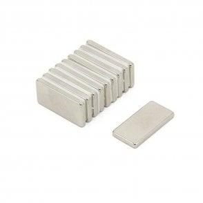 20 x 10 x 2mm thick N42 Neodymium Magnet - 2.1kg Pull