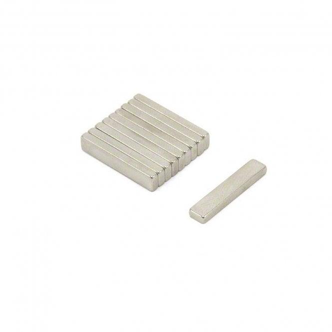 20 x 4 x 2mm thick N42 Neodymium Magnet - 1.9kg Pull