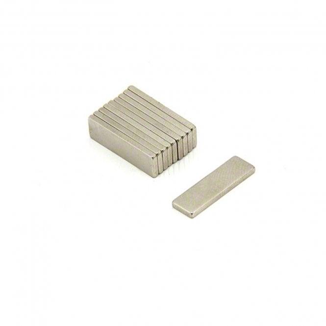 20 x 6 x 1.5mm thick N35 Neodymium Magnet - 1.1kg Pull