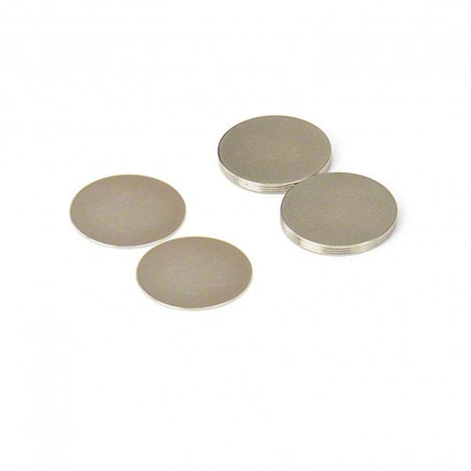 20mm dia x 0.5mm thick N42 Neodymium Magnets - 0.48kg Pull