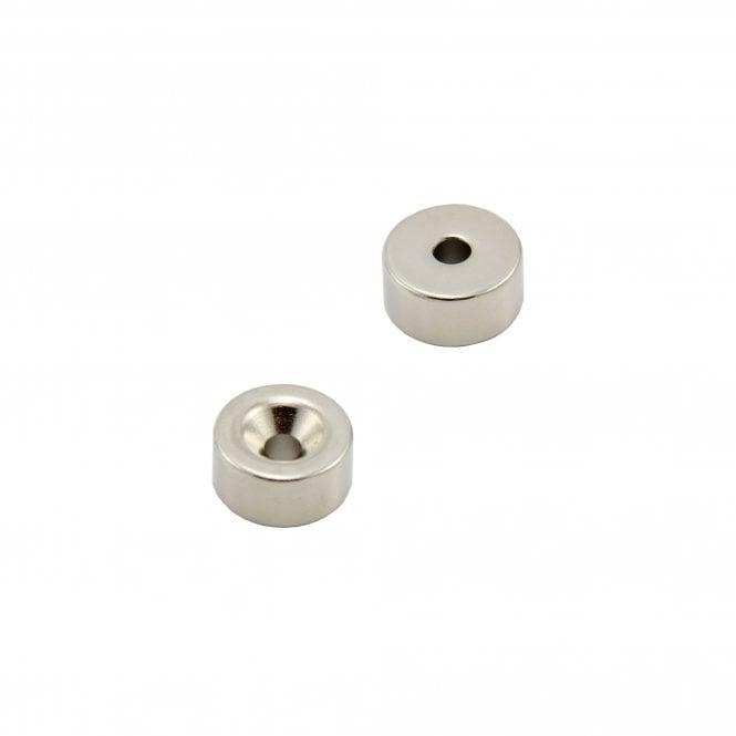 20mm dia x 10mm thick x 5.2mm c/sink Samarium Cobalt Magnet - 7.1kg Pull