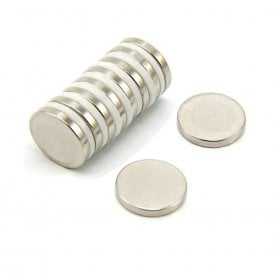 20mm dia x 3mm thick N35 Neodymium Magnet - 3.6kg Pull (Pack of 4)