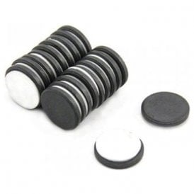 20mm dia x 3mm thick Y10 Ferrite Magnet with Self Adhesive Foam - 0.6kg Pull (Pack of 200)