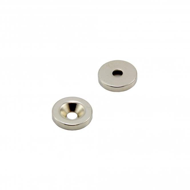 20mm dia x 4mm thick x 5.2mm c/sink Neodymium Magnet - 6.7kg Pull