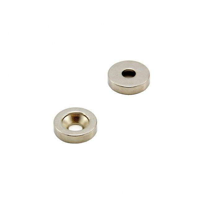 20mm dia x 5mm thick x 6mm c/s Neodymium Magnet - 7.1kg Pull