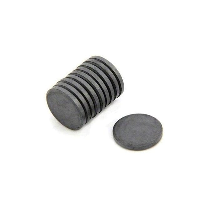 20mm x 3mm thick Y10 Ferrite Magnet - 0.6kg Pull
