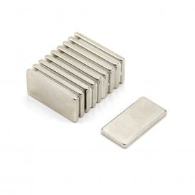22 x 11 x 2mm thick N42 Neodymium Magnet - 2.6kg Pull (Pack of 10)