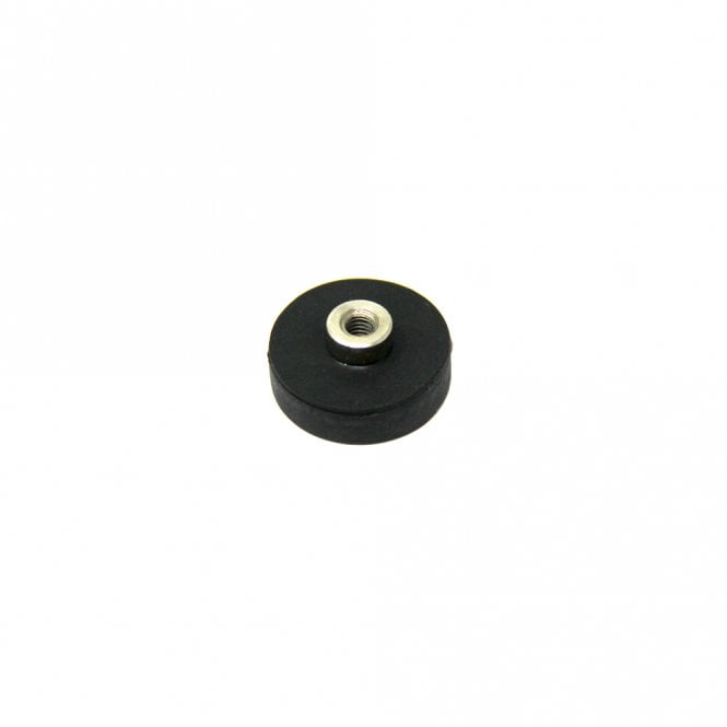 22mm dia x 6mm high Rubber Coated POS Magnet c/w M4 Boss Thread - 5kg Pull