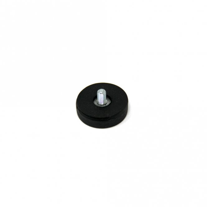 22mm dia x 6mm thick Rubber Coated POS Magnet c/w M4 x 15mm External Thread