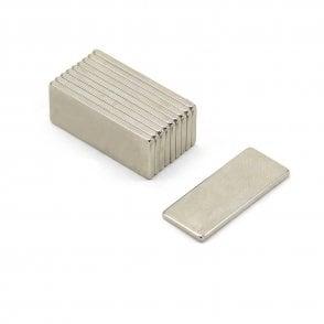 25 x 10 x 1.5mm thick N42 Neodymium Magnet - 2.2kg Pull