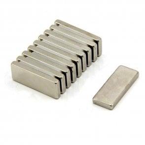 25 x 10 x 3mm thick N42 Neodymium Magnet - 4.3kg Pull