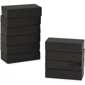 25 x 13 x 6mm thick Y30BH Ferrite Magnet (Pack of 10)