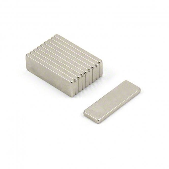 "25 x 8 x 2mm thick N52 Neodymium ""Strongest Grade"" Magnet - 3kg Pull"