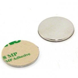 25mm dia x 2mm thick N42 Neodymium Adhesive Magnet - 3.5kg Pull (North) (Pack of 2)