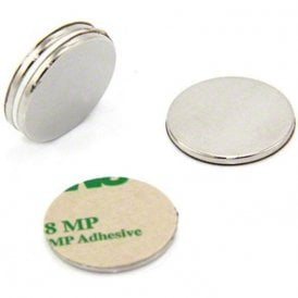 25mm dia x 2mm thick N42 Neodymium Adhesive Magnet - 3.5kg Pull (North) (Pack of 4)