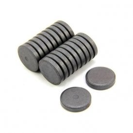 25mm dia x 5mm thick Y10 Ferrite Magnet - 0.6kg Pull (Pack of 200)