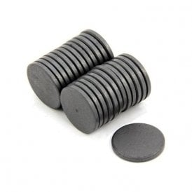 25mm x 3mm thick Y10 Ferrite Magnet - 0.5kg Pull (Pack of 1000)