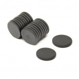 25mm x 3mm thick Y10 Ferrite Magnet - 0.69kg Pull (Pack of 20)