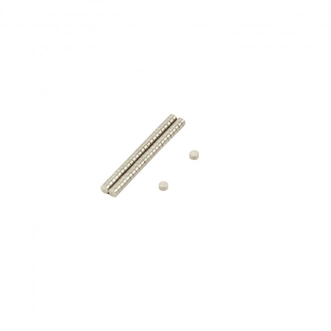 2mm dia x 1mm thick N35 Neodymium Magnet - 0.09kg Pull