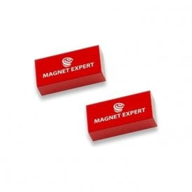 2x Alnico Rectangular Bar Magnets - 0.1kg Pull (10 x 5 x 20mm) (20 Sets)