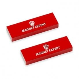 2x Alnico Rectangular Bar Magnets - 0.6kg Pull (12.5 x 5 x 40mm)