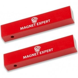 2x Alnico Rectangular Bar Magnets - 2.2kg Pull (15 x 10 x 75mm) (20 Sets)