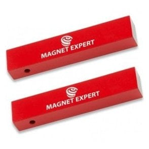 2x Alnico Rectangular Bar Magnets - 2.2kg Pull (15 x 10 x 75mm)