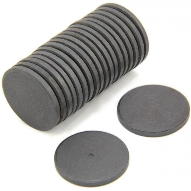 30mm dia x 3mm thick Y10 Ferrite Magnet - 0.9kg Pull