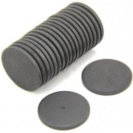 30mm dia x 3mm thick Y10 Ferrite Magnet - 0.9kg Pull (Pack of 800)