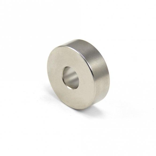 30mm O.D. x 10mm I.D. x 10mm thick Diametrically Magnetised N42 Neodymium Ring Magnet