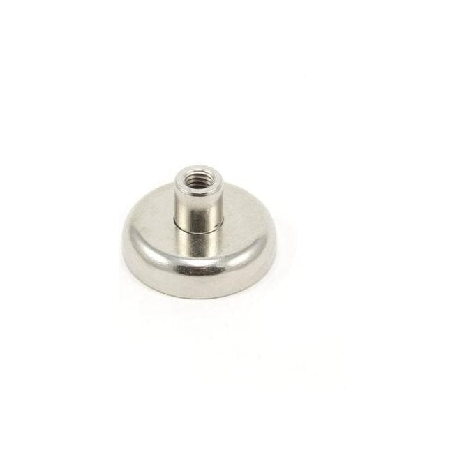 32mm dia x 18mm tall x M6 Thread Y30BH Ferrite Pot Magnet - 5.8kg Pull