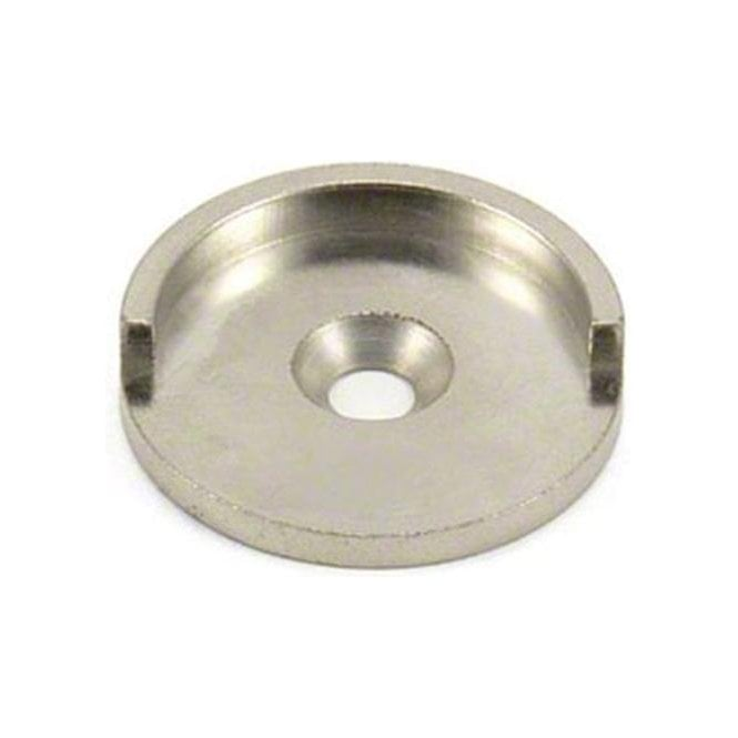 35mm dia Mild Steel Keeper Cup for Pot & Countersunk Magnets - Half Lip