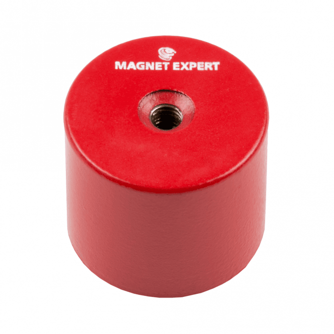35mm dia x 30mm thick Alnico 5 Deep Pot Magnet c/w M6 threaded hole - 14kg Pull