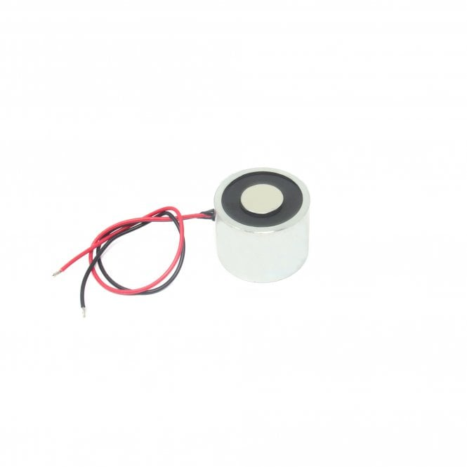 35mm dia x 30mm thick Energise to Release Electromagnet with M6 Mounting Hole - 10kg Pull (24V DC / 11W)