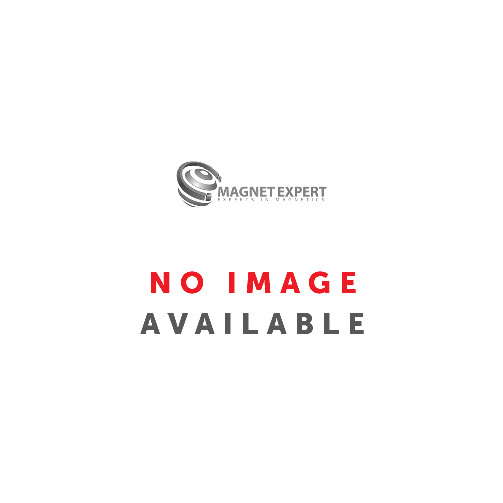 40mm dia Ferrite White Painted Clamping Magnet with M6 Hook - 10.2kg Pull