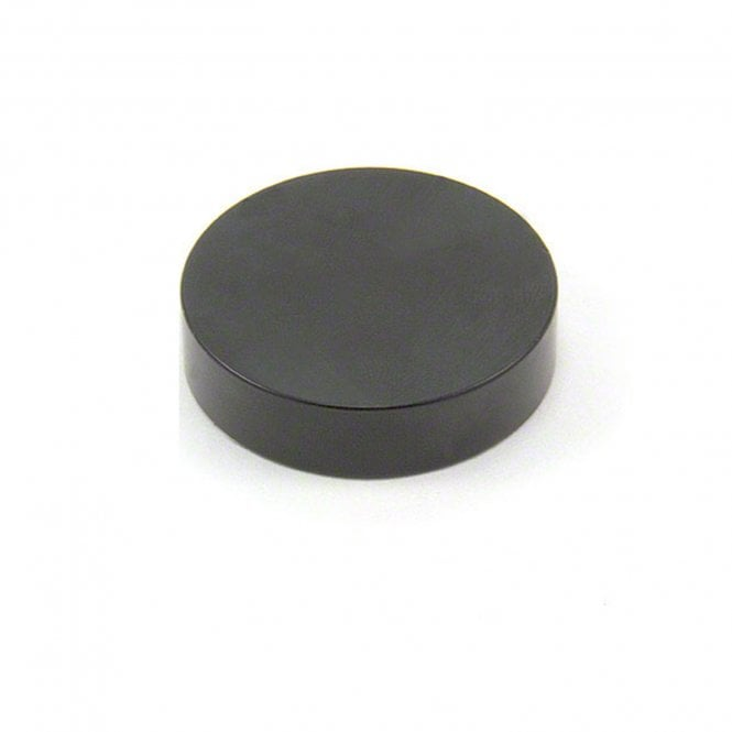 40mm dia x 10mm thick Black Epoxy Coated N42 Neodymium Magnet - 27.3kg Pull