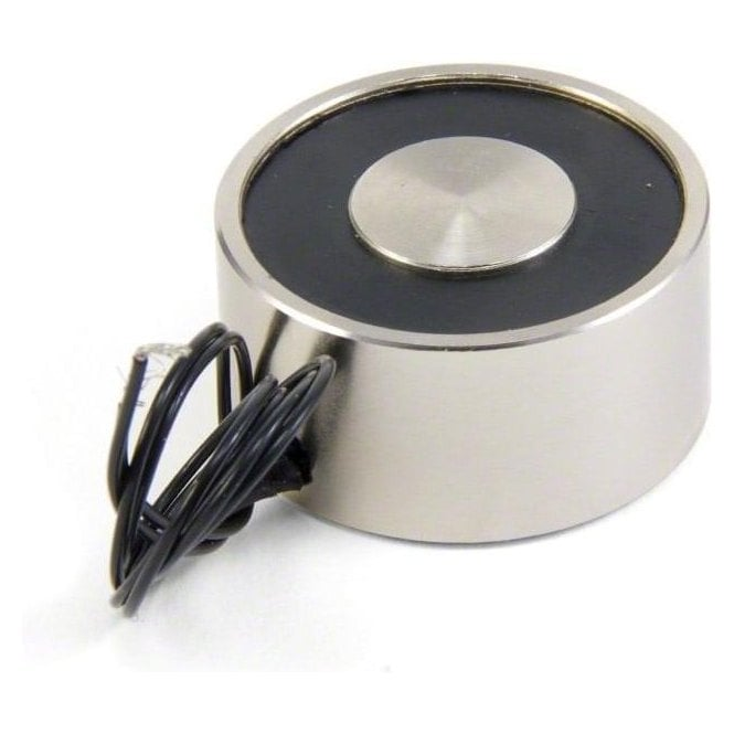 40mm dia x 20mm thick Electromagnet with M5 Mounting Hole - 25kg Pull (8W / 0.33A)