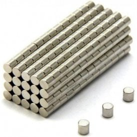 4mm dia x 4mm thick N42 Neodymium Magnet - 0.58kg Pull ( Pack of 1000 )