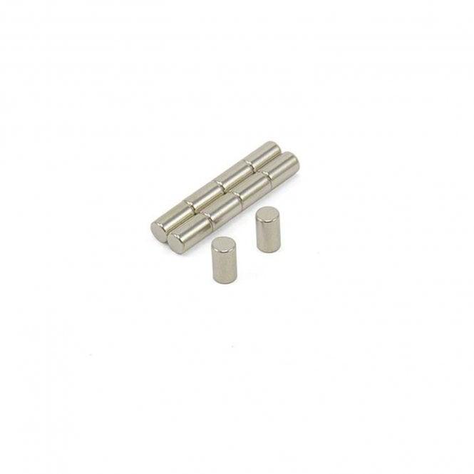 4mm dia x 7mm thick N42 Neodymium Magnets - 0.68kg Pull