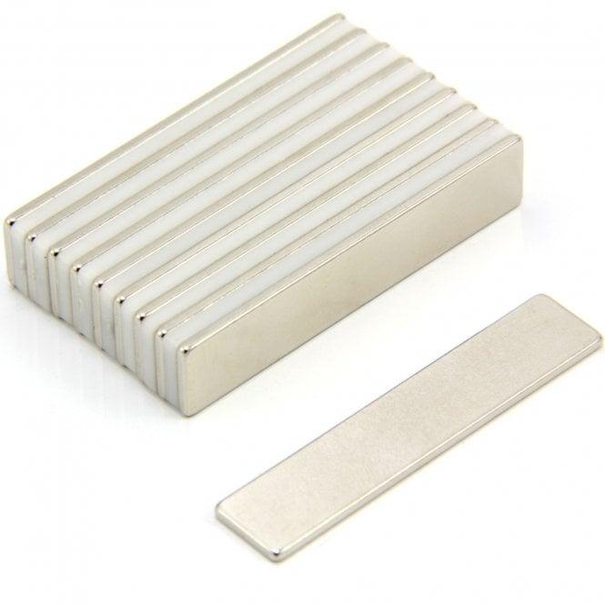 50 x 10 x 1.5mm thick N35 Neodymium Magnet - 3.6kg Pull