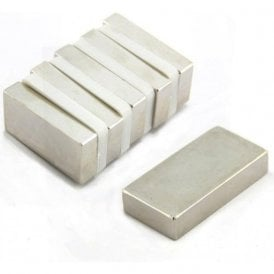 50 x 25 x 10mm thick N42 Neodymium Magnet - 32.2kg Pull ( Pack of 60 )