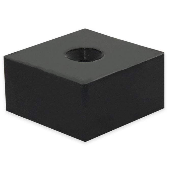 50 x 50 x 25mm thick Rubber Coated N42 Neodymium Magnet with 8.2mm dia c/sunk hole - 84kg Pull (North/South)