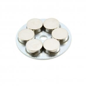 50mm dia x 7mm thick x 6mm hole Medium Pole Limpet Magnet - 55kg Pull