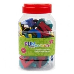 58 Uppercase Magnetic Foam Letters + Punctuation (Assorted)