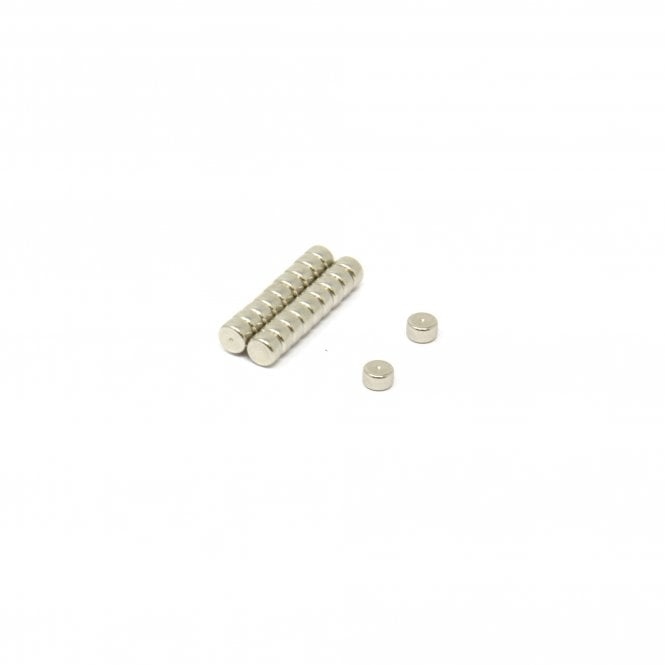 5mm dia x 3mm thick N45 Neodymium Magnet (Identifiable North Face) -0.8kg pull