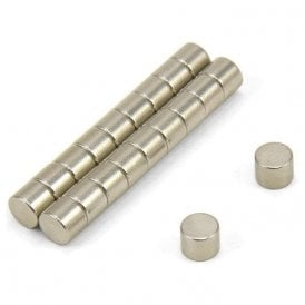 5mm dia x 4mm thick N35 Neodymium Magnet - 0.66kg Pull (Pack of 200)