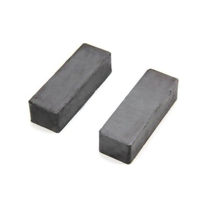 60 x 20 x 15mm thick Y30BH Ferrite Magnet - 4.9kg Pull