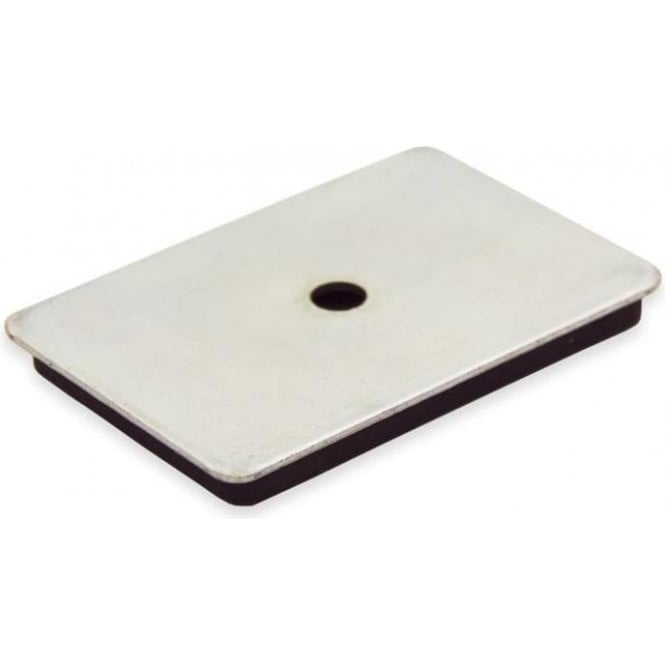 60 x 40 x 7mm thick Neodymium Magnetic Pad with 6mm dia hole - 7kg Pull