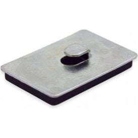 60 x 40 x 7mm thick Neodymium Magnetic Pad with Hook - 10kg Pull (Pack of 1)