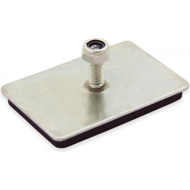 60 x 40 x 7mm thick Neodymium Magnetic Pad with M6 Threaded Stud - 10kg Pull